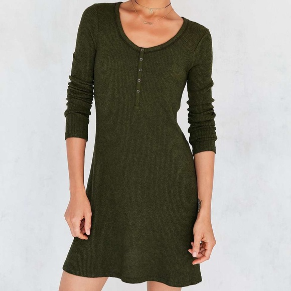 Urban Outfitters Dresses & Skirts - Urban Outfitters Henley Long Sleeve Mini Dress